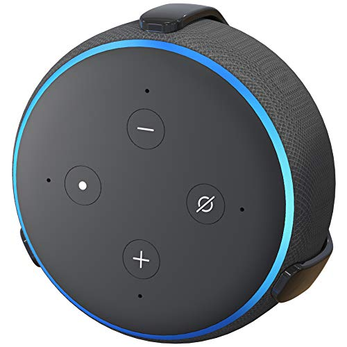 TotalMount Echo Dot (3rd Gen) Hole-Free Wall Mount (Black) - Eliminates Need to Drill Holes in Your Wall