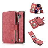 For Samsung Galaxy S10 + Leather Magnetic Phone Case Wallet Detachable Protective Flip Cover with Card Holder,...