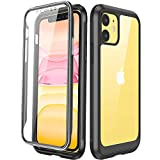 Miracase Compatible with iPhone 11 Case, Full Body Clear Design Built-in Screen Protector Shockproof Scatch...