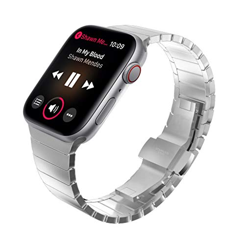 KADES Solid Stainless Steel iWatch Band Link Bracelet