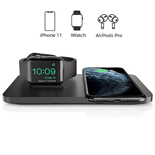 Wireless Charger, Seneo 2 in 1 Dual Wireless Charging Pad