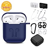 TAOSANHU AirPods Case 9 in 1 Airpods Accessories Kits Protective Silicone Cover and Skin Compatible Apple...