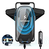 Wireless Car Charger,10W Qi Wireless Charger Car Mount,Car Phone Mount With Wireless Charging For IPhoneX Xs...