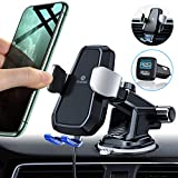 Andobil Automatic Clamping Wireless Car Charger Mount, Best Stable Holder Qi Fast Charging Air Vent Dashboard...