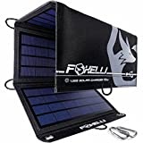 Foxelli Dual USB Solar Charger 10W - Portable Solar Panel Phone Charger for iPhone & Android Smartphones,...