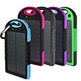 Solar Charger, Powercam, 10,000 mAh, Waterproof, Drop Resistant, Shockproof, for iPhones, iPads, Android,...
