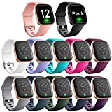 Ouwegaga Compatible for Fitbit Versa 2 Bands Versa Lite Bands Women Men Straps Wristbands Small 12 Packs