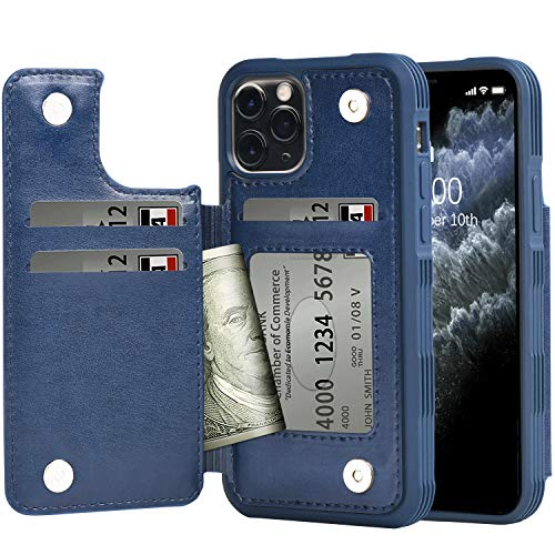 Arae Case for iPhone 11 pro PU Leather Wallet Case
