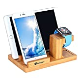 Apple Watch Stand,BAVIER Bamboo Wood Charge Dock,Charge Dock Holder,Bamboo Wood Charge Station/Cradle for...