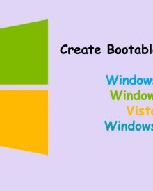 How to Create a Bootable Windows 8/7/Vista/XP USB Drive