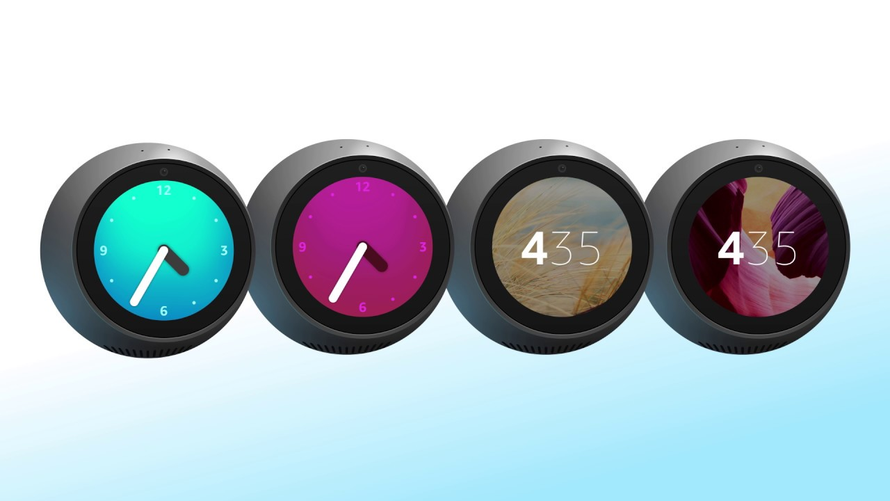How to change Amazon Echo Spot Clock Face