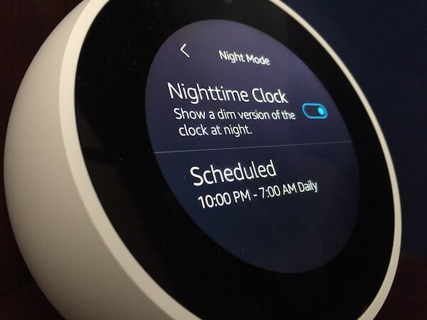 How to enable Night Mode on Amazon Echo Spot