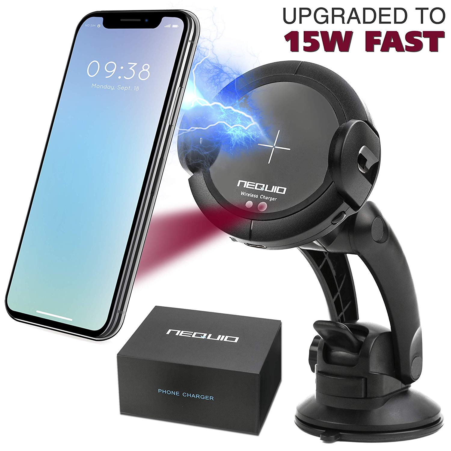 Nequio Fast Wireless Charger Car Mount.ed