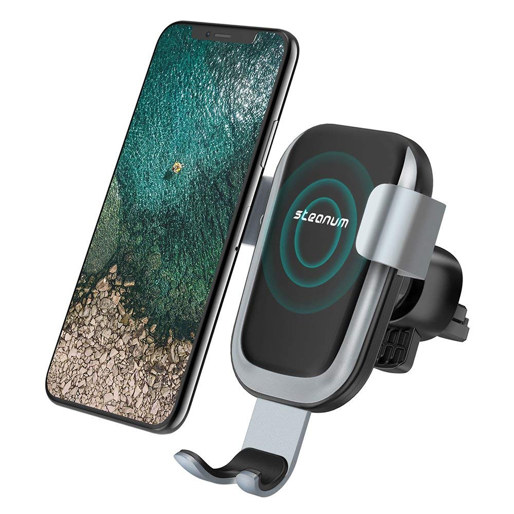 Steanum Qi Gravity Wireless Car Mount and Charger.ed
