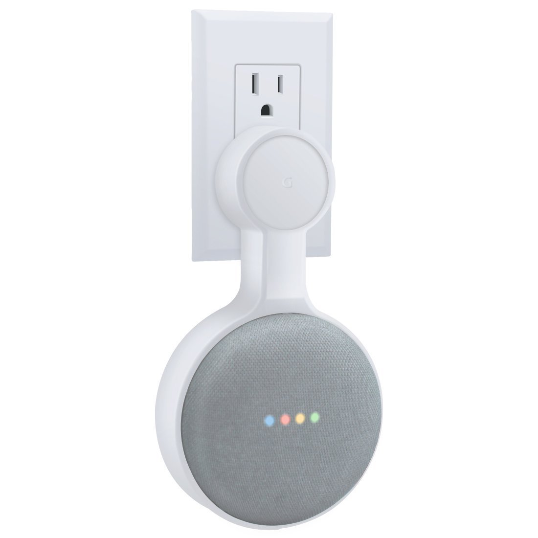 Outlet Wall Mount Hanger Holder Stand for Google Home Mini Built in Cable Cord